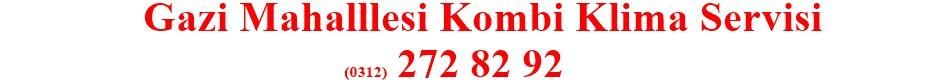 Gazi-kombi-klima-ariza